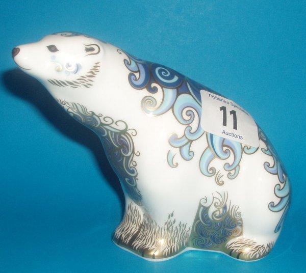 11: Royal Crown Derby Paperweight Aurora Polar Bear Lim