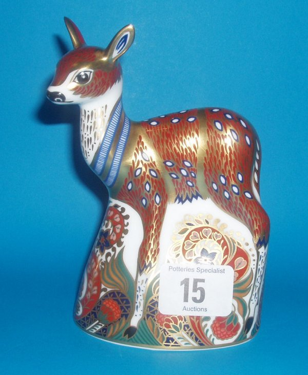 15: Royal Crown Derby Paperweight Fawn Exclusive For Th