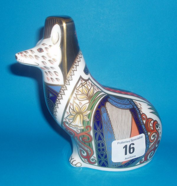 16: Royal Crown Derby Paperweight Welsh Corgi Limited E