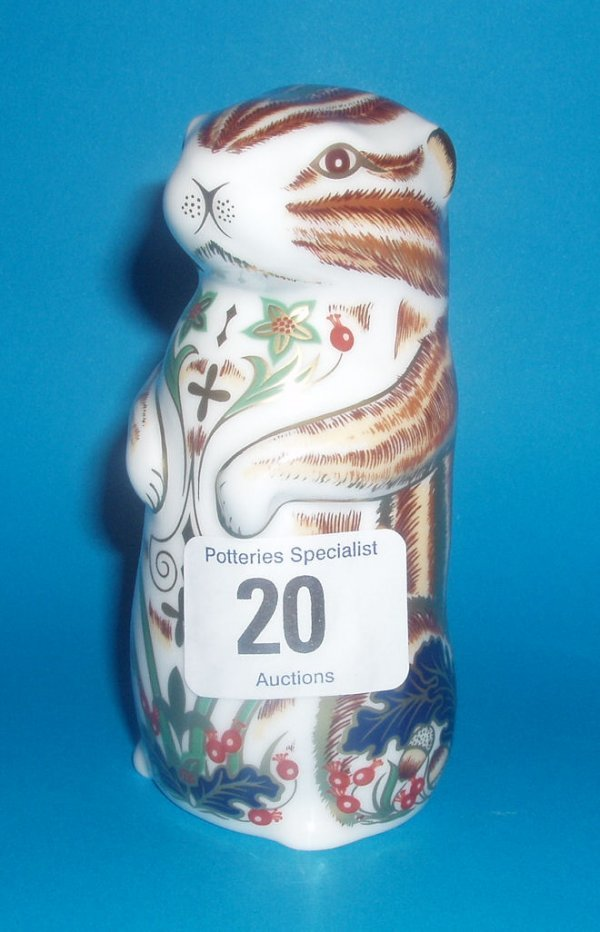 20: Royal Crown Derby Paperweight Chester Chipmunk Boxe