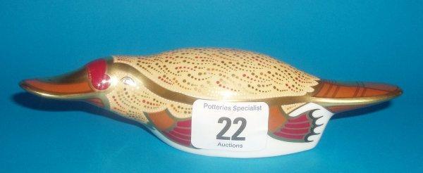 22: Royal Crown Derby Paperweight Duck Billed Platypus