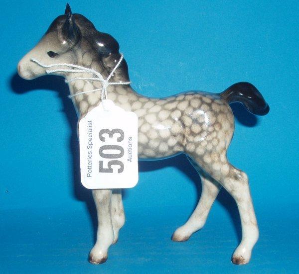 503:Beswick Foal 1084 In Rocking Horse Grey
