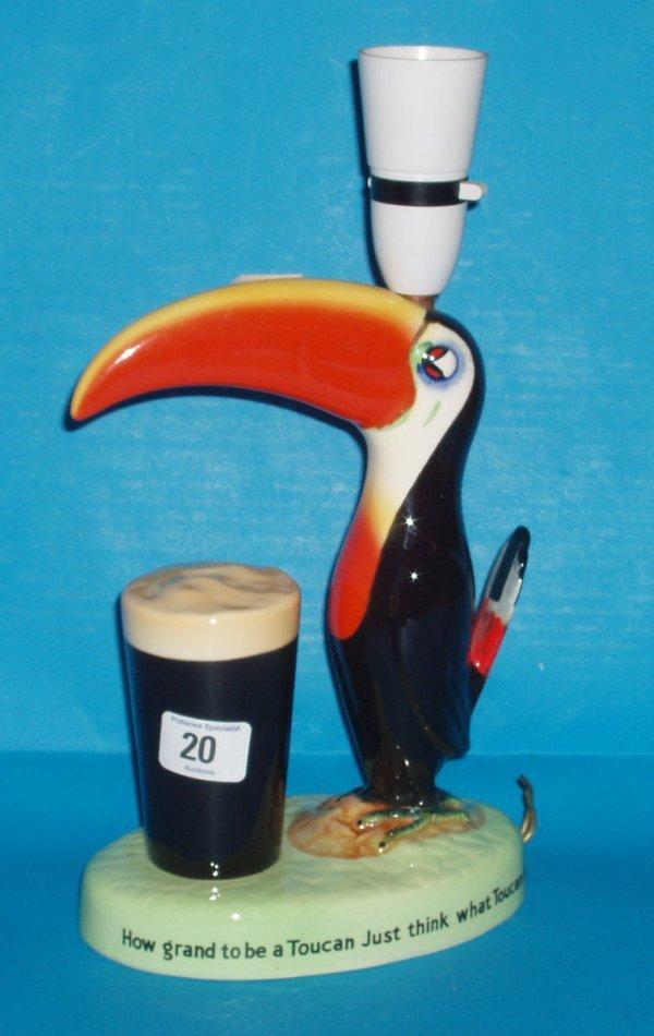 20L: Carltonware Toucan lamp advertising Guiness , heig