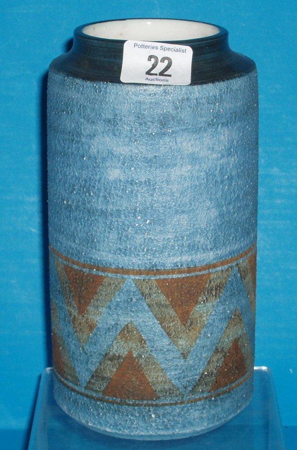 22L: Troika cylinder vase, height 21cm