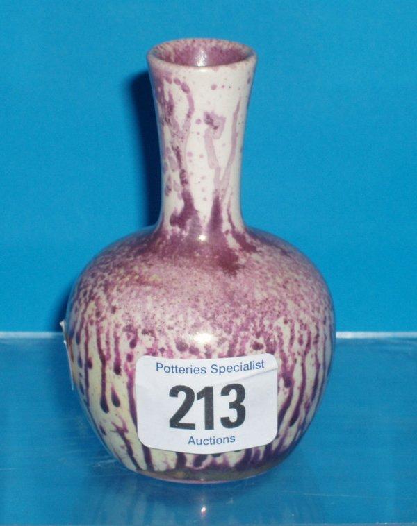213L: Moorcroft Burslem Gourd Vase decorated with speck