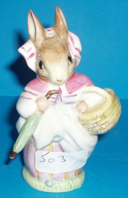 503L: Beswick Beatrix Potter figure Mrs Rabbitt BP1 (ti