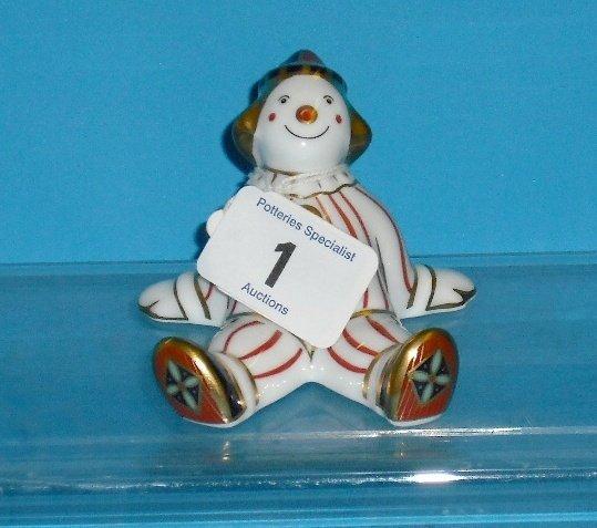 1L: Royal Crown Derby Stripy Clown Boxed