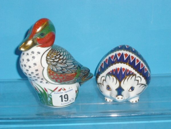19L: Royal Crown Derby Paperweights Green Winged Teal a