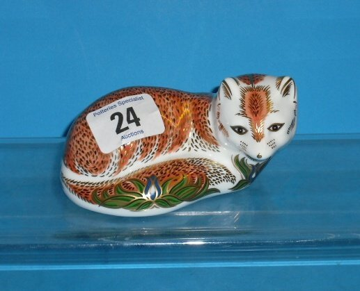 24L: Royal Crown Derby Paperweight Leicestershire Fox (