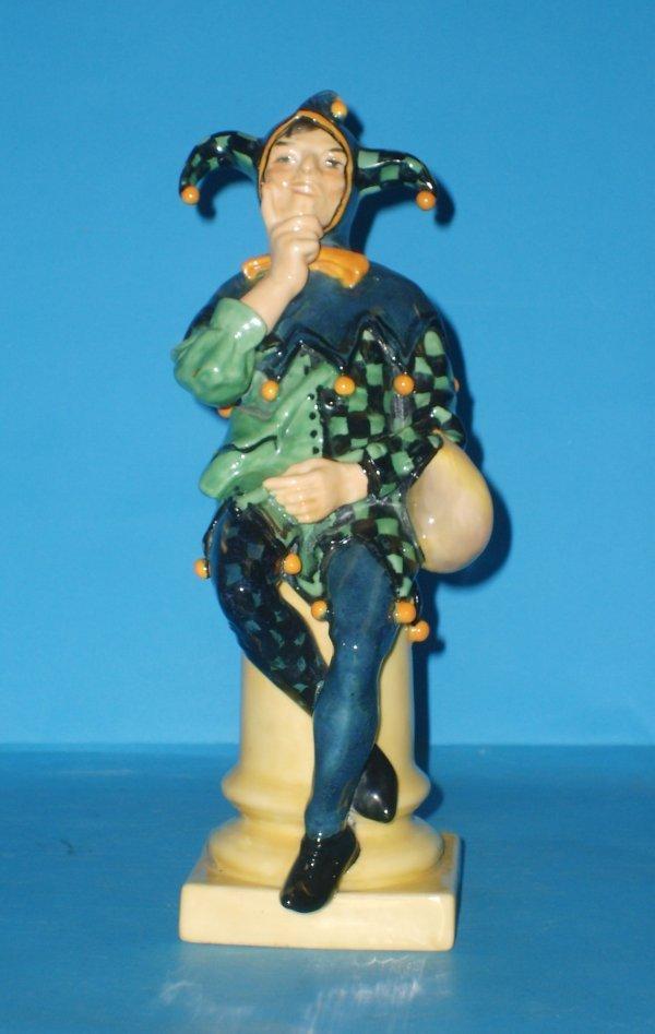 222L: Royal Doulton figure A Jester HN71, by C J Noke,