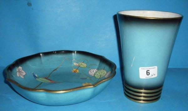 6: Carltonware Bleu Royale Vase and Bleu Royale Bowl de