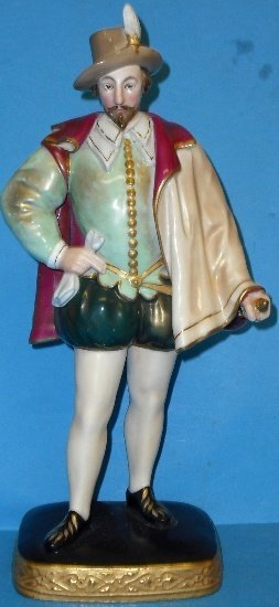 7: Royal Worcester Figure Sir Walter Raleigh after Zacc