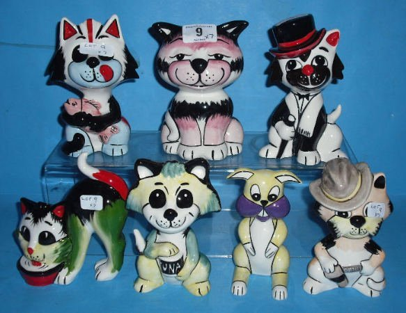 9: Collection of Various Lorna Bailey Cats in different