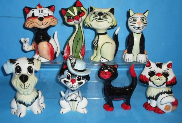 10: Collection of Various Lorna Bailey Cats in differen