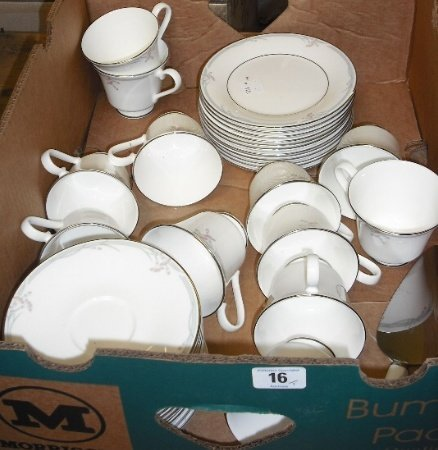 16: Tray to include Royal Doulton Carnation Part tea Se