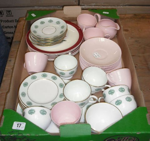 17: Tray Of Wedgwood Part Tea Sets to include 6 Mayfiel