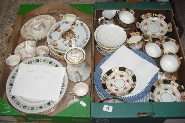 19: 2 Trays of various part tea sets Comprising of Old