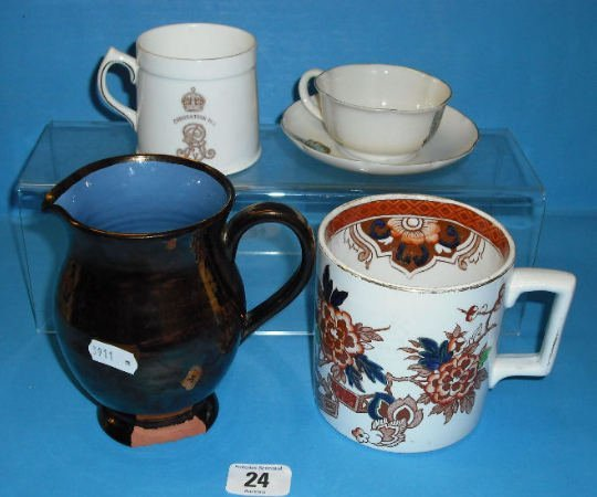24: W H Goss Crested Cup and Saucer, Bristol Pottery Im