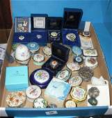 56: A Collection of  miniature Porcelain Boxes by Halcy