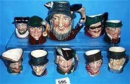 595: Royal Doulton Miniature Character Jugs Beefetaer,