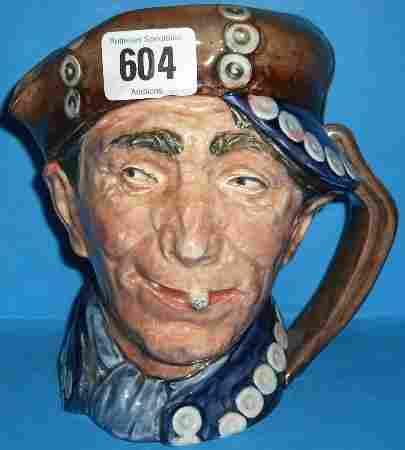 Royal Doulton Rare Large Character Jug Blue Pearly