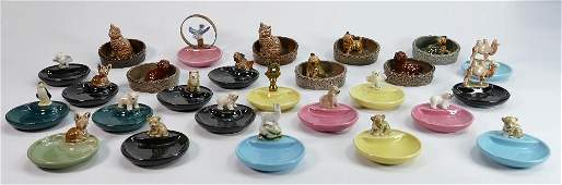 A collection of Wade porcelain Whimsie dishes: