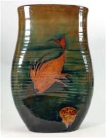 William Moorcroft rare and unusual shaped vase: C1930,