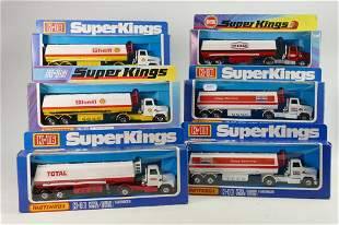 A collection of Matchbox K-16 Model Tanker Toys: All