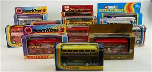 A collection of boxed Corgi toy buses to include: