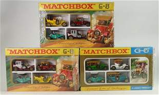 Three Matchbox G5 Famous Cars ofYesteryear Four Car