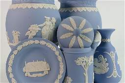 A collection of Wedgwood Jasperware to include: Pair of