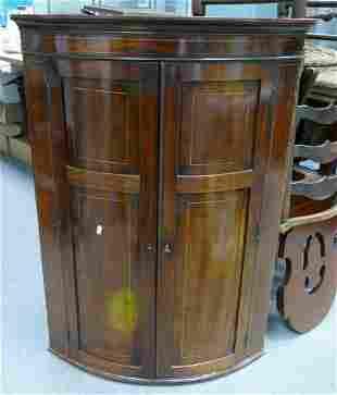 19th century inlaid Mahogany corner cupboard: Height