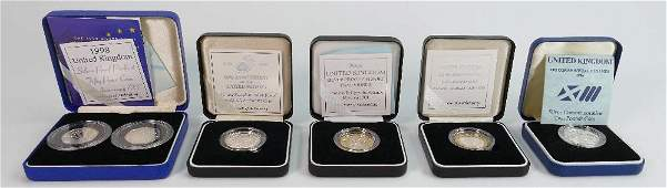 A collection of proof coins from the Royal
