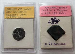 ancient India Silver & copper coin: Shahis of Kabaul