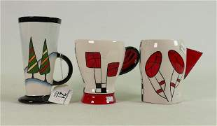 Three Lorna Bailey mugs one limited edition of 35: All