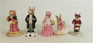 Five Royal Doulton Bunnykins figures: Includes DB218