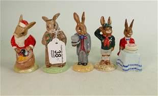 Five Royal Doulton Bunnykins figures: Includes DB246
