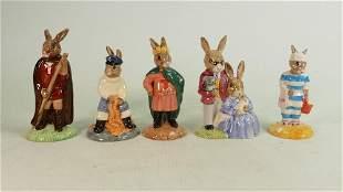 Five Royal Doulton Bunnykins figures: DB170 Fisherman,
