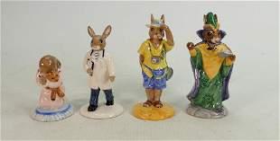 FOUR x Royal Doulton Bunnykins figures: DB190 Tourist,