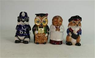 Staffordshire Wooland collection toby jugs: Mr Chips,