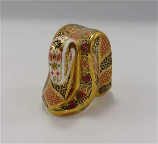 Royal Crown Derby Snake Paperweight: