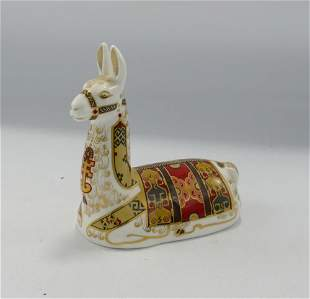 Royal Crown Derby paperweight Collectors Guild Llama: