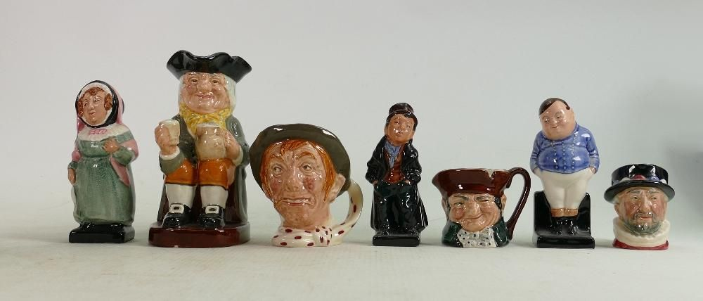 A collection of Royal Doulton Jugs & Figures to