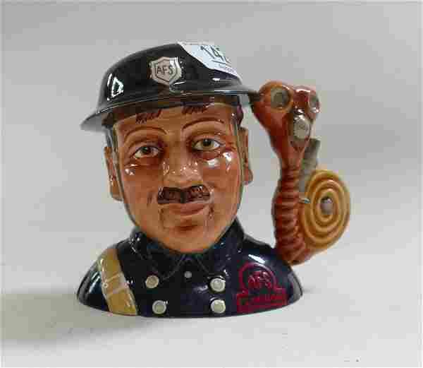 Royal Doulton Intermediate Character Jug Fireman: D7215
