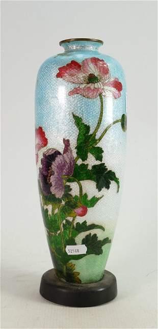 Large Chinese Cloisonne Enameled Vase: height 33cm