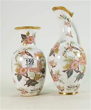Two German KPM Royal Porzellan Floral Items to include:
