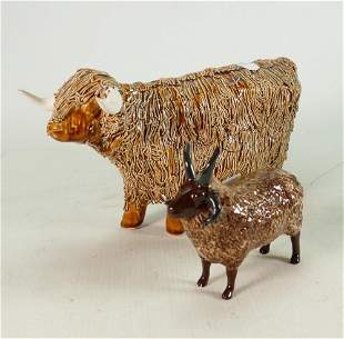 Spaghetti Pottery Highland Bull: repair to horn