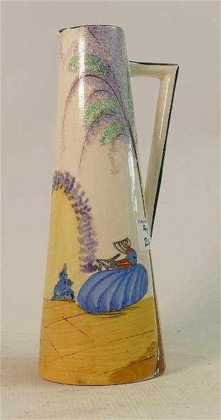 Large Hand painted Staffordshire Jug: height 29cm