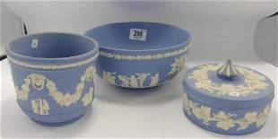 A collection of Wedgwood jasperware to include: fruit