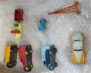 Early Dinky toy group including advertising vans: